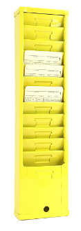Time Card Rack 155H (12-Pocket, Steel)
