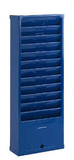 Time Card Rack 163H (12-Pocket, Steel)