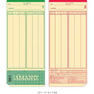 Time Cards (2000) for Amano MJR Series - #000-099 (AMA-099000)